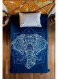 home-bath Tek Kişilik Nevresim Ve Duvar Örtüsü Seti-Elephant Renkli